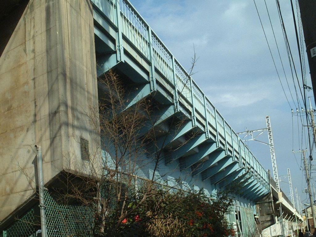 外郭環状線予定地点の架道橋