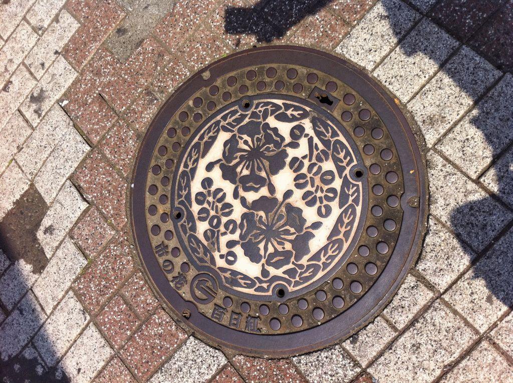 Manhole in Chofu city