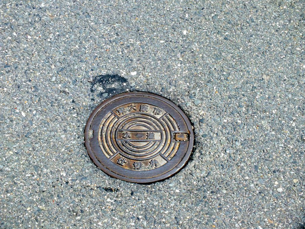 Manhole in Higashi-Osaka City, Osaka