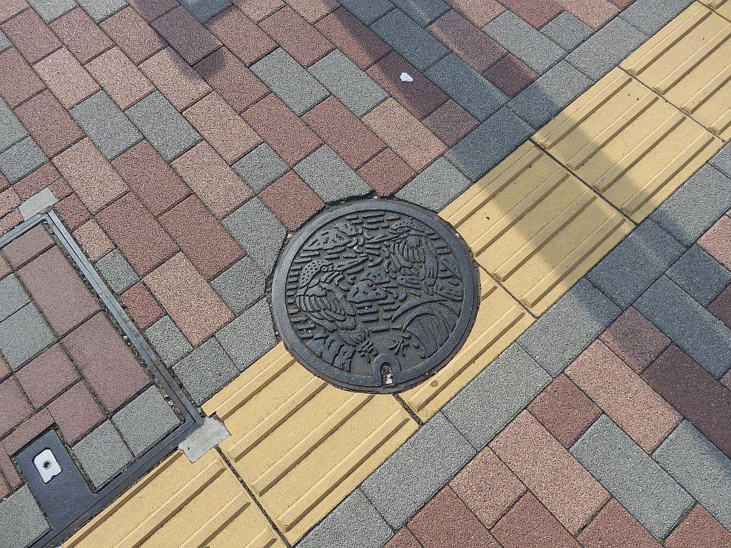 Manhole in Hino city