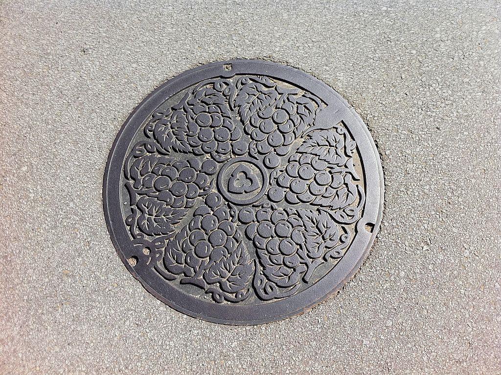 Manhole in Koshu city