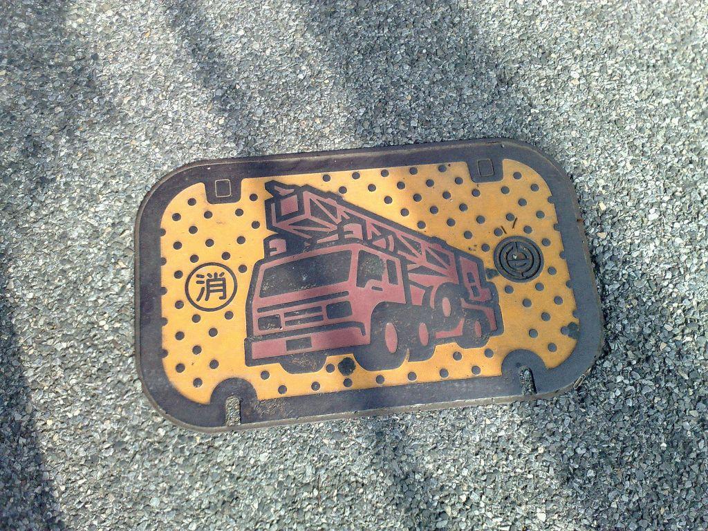 Manhole in Kumagaya city