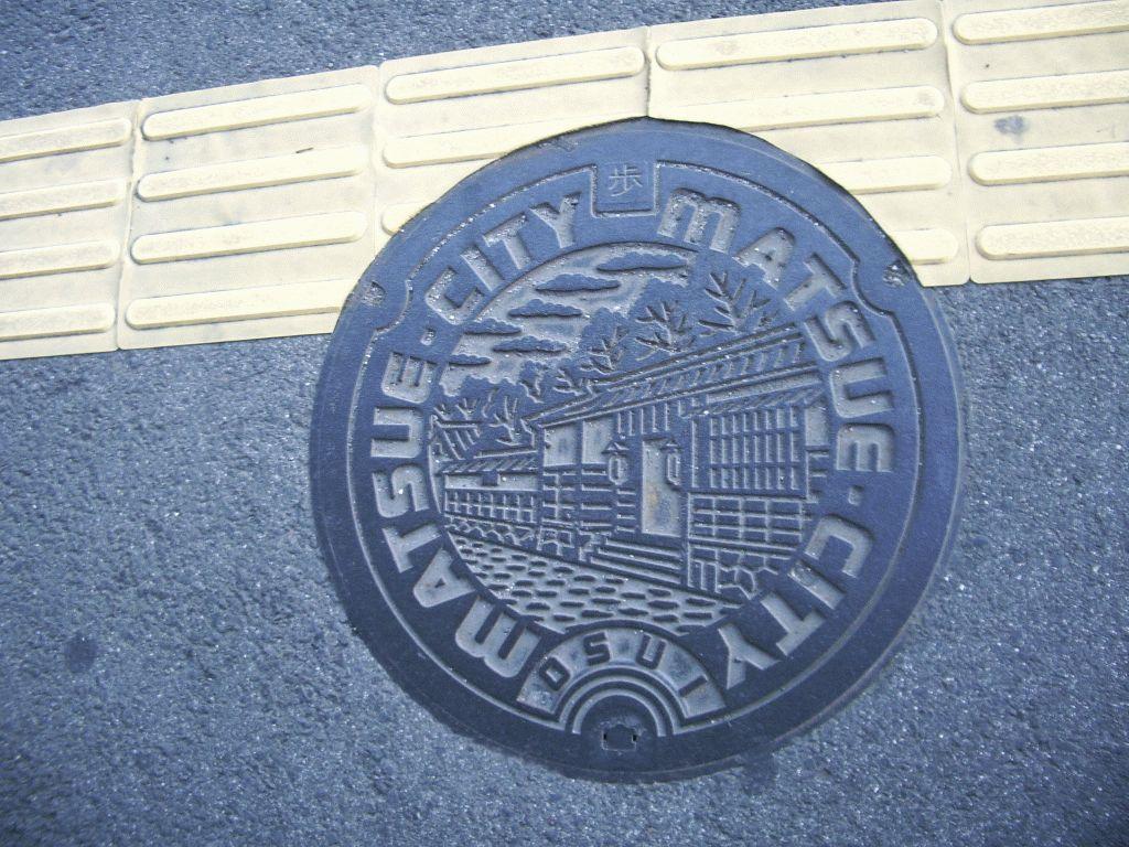 Manhole in Matsue city