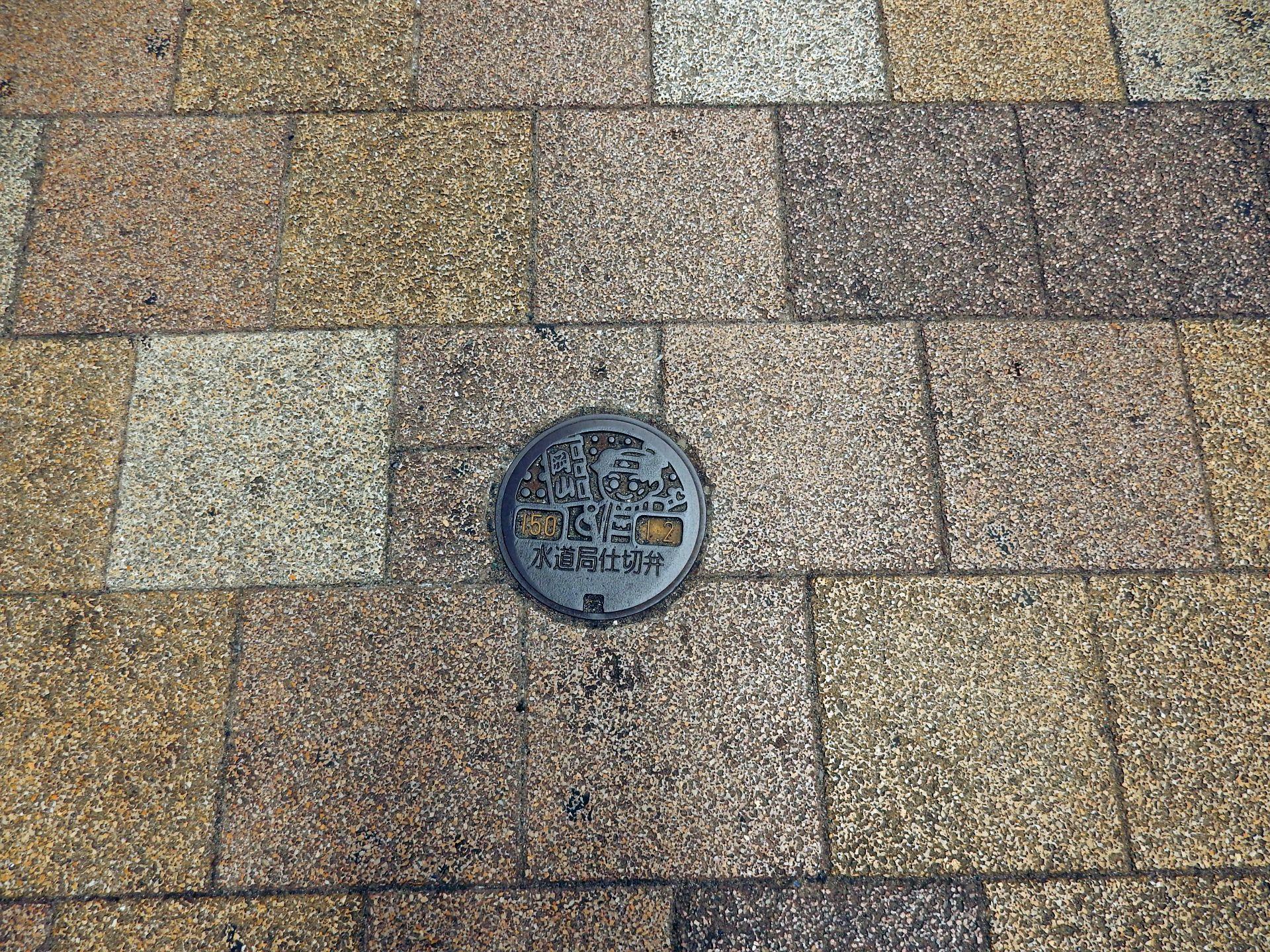 Manhole in Okayama city