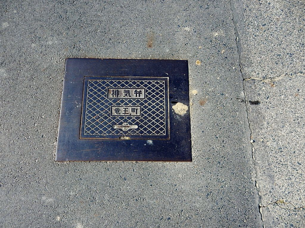 Manhole in Ryuoh Town