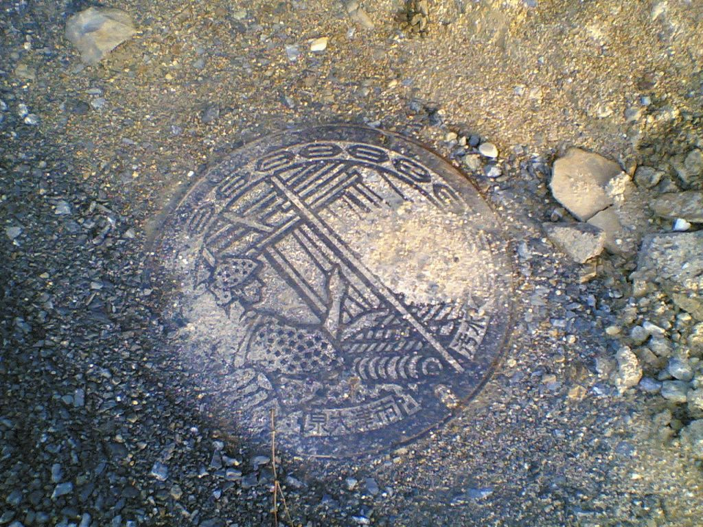 Manhole in Shimamoto-cho