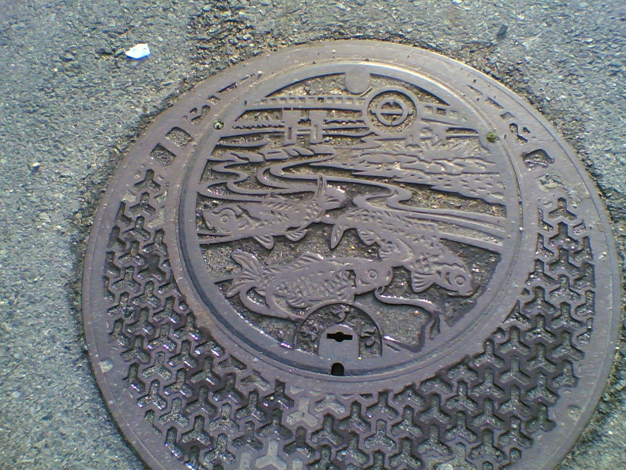 Manhole in Yabu District of Yabu-shi