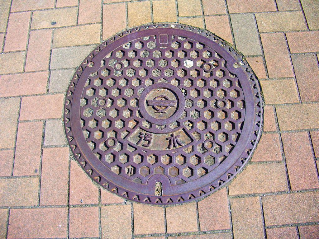 Manhole in Yasugi city