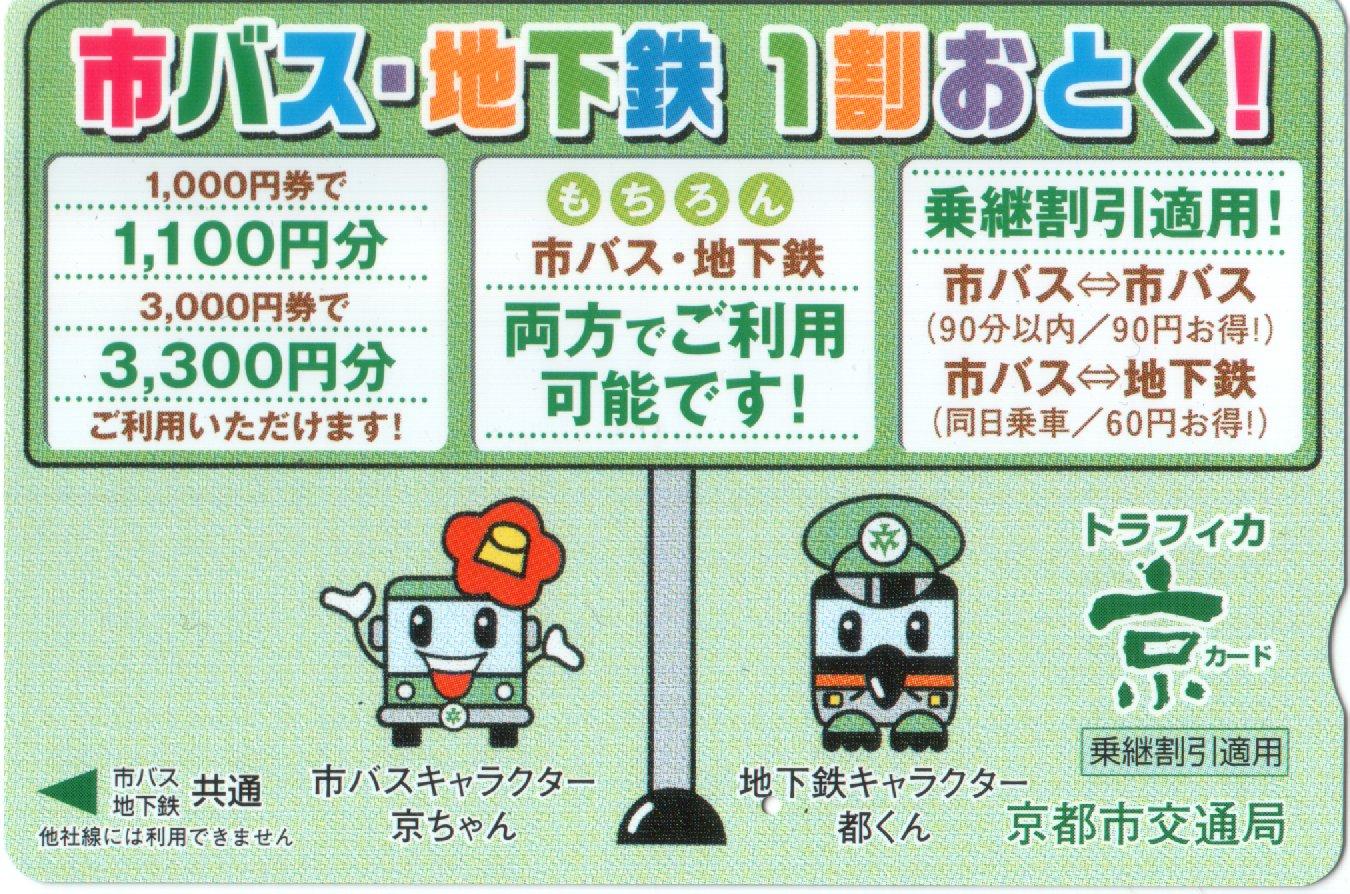 Kyoto Municipal Transportation Bureau  Trafica Card