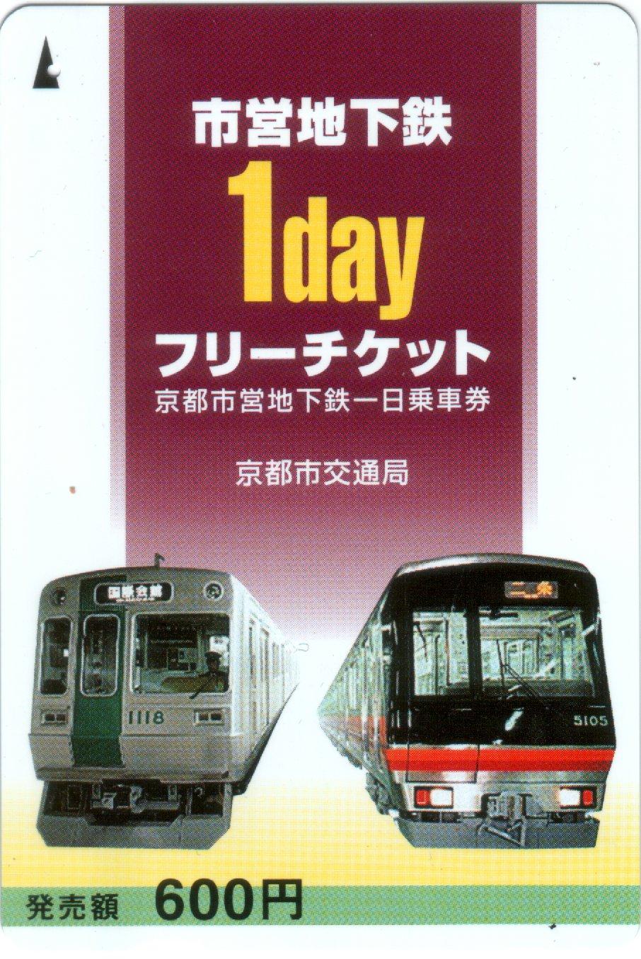 Kyoto Municipal Transportation Bureau One-day pass