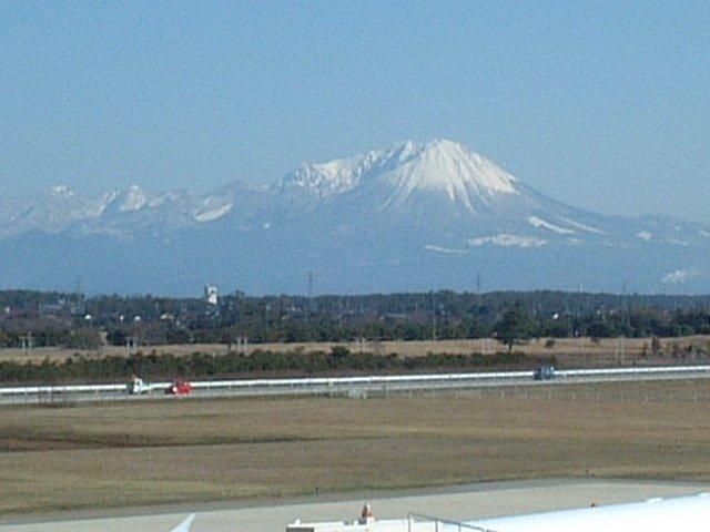 米子空港からの大山
