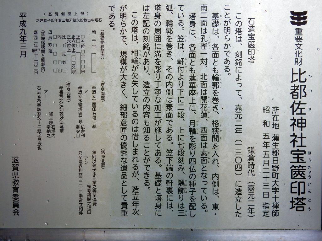 日野町十禅寺の比都佐神社