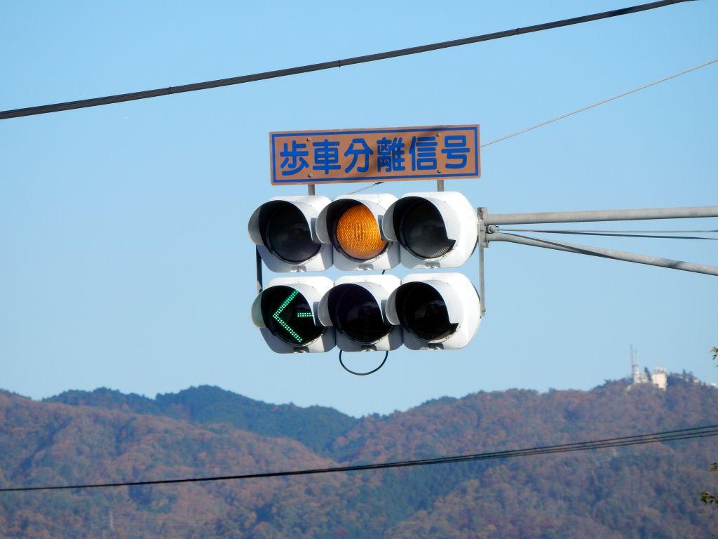 千本北大路交差点の信号