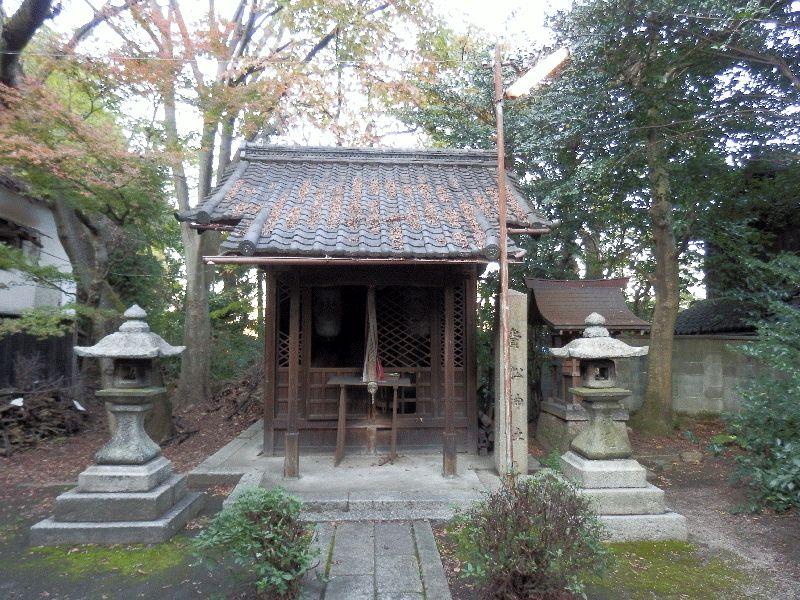 関蝉丸神社境内の貴船神社