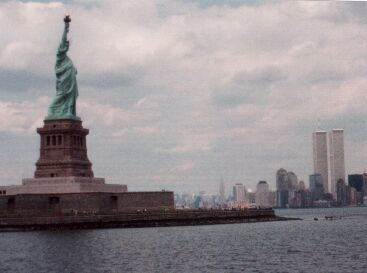 Statue of Liberty and Mahatten Skyline