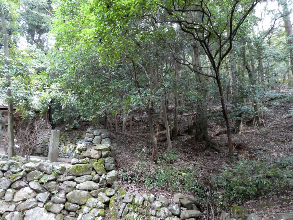 白雲稲荷神社本殿東側