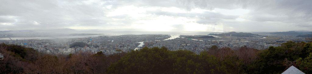 眉山からの眺望